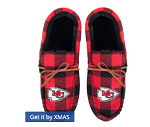 Kansas City Chiefs Flannel Moccasin Slippers