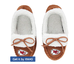 Kansas City Chiefs Youth Moccasin Slippers