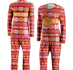 Kansas City Chiefs Women's Ugly Pajama Set – Red