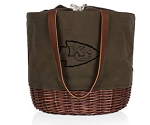 Kansas City Chiefs Coronado Canvas and Willow Basket Tote