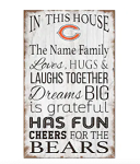 Chicago Bears Personalized  'In This House' Sign (11