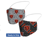Chicago Bears Camo Face Coverings (Adult Size)(Pack of 2)