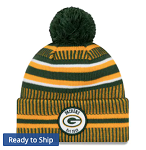 Green Bay Packers Sideline Home Official Knit Cap (Green/Gold)