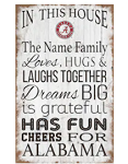 Alabama Crimson Tide Personalized  'In This House' Sign (11