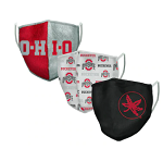 Ohio State Buckeyes Face Coverings (Adult Size) (Pack of 3)