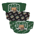 Ohio Bobcats Face Coverings (Adult Size) (Pack of 3)