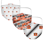 Cincinnati Bengals Women's Face Coverings (Pack of 3)