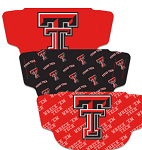 Texas Tech Red Raiders Face Coverings (Adult Size) (Pack of 3)