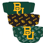Baylor Bears Face Coverings (Adult Size) (Pack of 3)