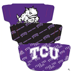 TCU Horned Frogs Face Coverings (Adult Size) (Pack of 3)