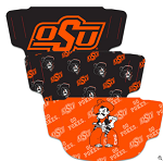 Oklahoma State Cowboys Face Coverings (Adult Size) (Pack of 3)