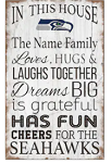 Seattle Seahawks Personalized In This House Sign (11
