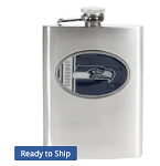 Seattle Seahawks Stainless Steel Flask
