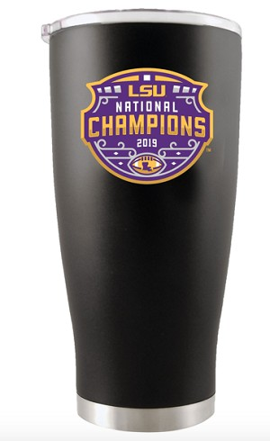 LSU Tigers CFP Nat'l Champs Stainless Steel Tumbler