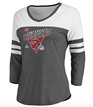 Chiefs 2019 AFC Champs Women's 3/4 Sleeve T-shirt