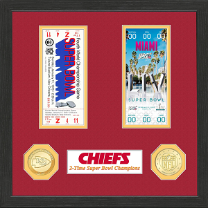 KC Chiefs Authentic 2-Time SB Champs Ticket Collection