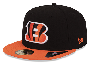 Cincinnati Bengals New Era Historic Logo Adjustable Hat - Black/Orange