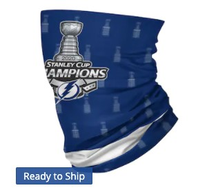 Tampa Bay Lightning On-Field Neck Gaiter  (Adult Size)