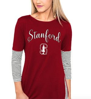 Stanford Cardinal Women's 3/4-Sleeve Tunic Top