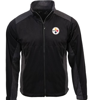 Pittsburgh Steelers Antigua Revolve Full-Zip Jacket - Black