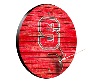 NC State Wolfpack Weathered Design Key Chain Holder / Hook & Ring Game
