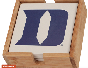 Duke Blue Devils Coaster Set with Caddy (4 pack)