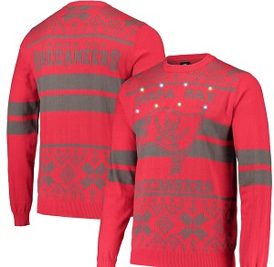 Tampa Bay Buccaneers Light Up Ugly Sweater - Red
