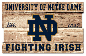 Notre Dame Fighting Irish WinCraft 9'' x 30'' Plank Wood Sign