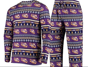 LSU Tigers Ugly Sweater and Pant Set