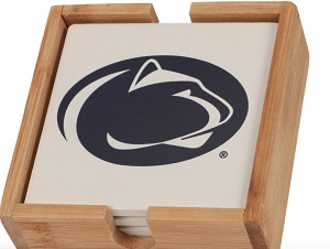 Penn State Nittany Lions Coaster Set with Caddy (4 pack)
