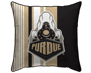 "Purdue Boilermakers Large Stripe Decorative Throw Pillow (18"" x 18"")"