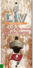 Tampa Bay Buccaneers Super Bowl LV Champs Distressed Bottle Opener